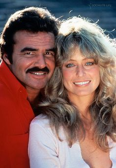 "Burt Reynolds and Farrah Fawcett photo  promoting ""The Cannonball Run""."