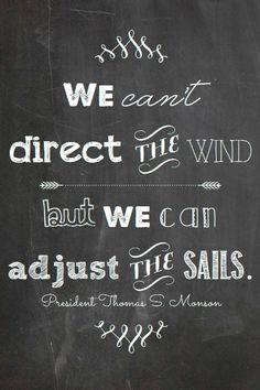 Comparing sailing into life......Cool!