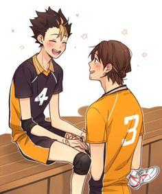 Haikyuu Nishinoya, Haikyuu Funny, Haikyuu Fanart, Kagehina, Haikyuu Volleyball, Volleyball Anime, Fanarts Anime, Manga Anime, Kuroken