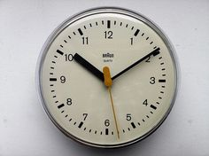 Dieter Rams and Dietrich Lubs, 4833 Wall Clock for Braun, 1979 Vintage Design, Retro Design, Graphic Design, Little Designs, Cool Designs, Dieter Rams Design, Braun Dieter Rams, Charles Ray Eames, Timex Watches