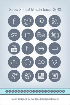 Simple-Sleek-Social-Media-Icons
