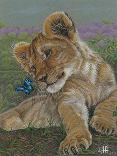 baby lion de arteyayiloren en Etsy, láminas decorativas, ilustraciones, ilustration, pencil drawings, lápices de colores