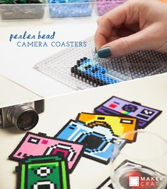Perler Bead Camera Coasters | Maker Crate