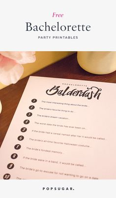 This checklist will have you covered for any bachelorette party.