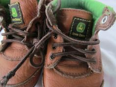 Daddys Little Helpers Working Boy Boots John Deere Toddlers size 4 Leather Boots. $15.00, via Etsy.