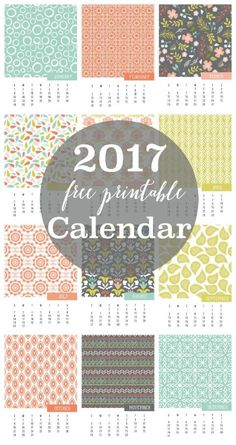 2017 Calendar   This free printable 2017 calendar is stylish enough to be art! 5x7 printable monthly calendar is yours to download. Click the photo to grab yours. http://TodaysCreativeLife.com