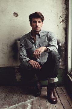 "Ernest Alexander – Fall 2012 Double Pocket ""Mitchell"" Chambray shirt"