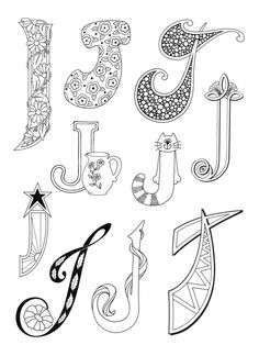 letters I-J