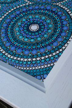 Original Blue Dot Mandala Painting  45cm x 45cm