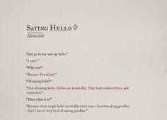 SAYING HELLO   NIKITA GILL