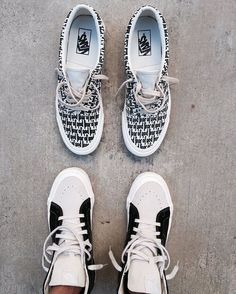 "FAIR OF GOD x VANS #fog #vans #jerrylorenzo #kanyewest #yeezy • @vans x @fearofgod @jerrylorenzo • Jerry Lorenzo has unveiled a first look at an upcoming FOG x Vans collaboration. He tells us these are early samples slated for summer 2016, with the styles featured being the classic Era and Sk8-Hi. • A ""fear of god"" pattern adorns the Era while the Sk8-Hi bears a minimal off-white and black makeup. Let's see and wait when #KanyeWest announces his collaboration with #Vans Are you excite..."