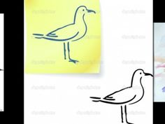 easy seagull drawing