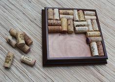 Wine Cork Trivet Craft - DIY wine cork trivet reclaimed wood frame - hot plate, recycled wine corks