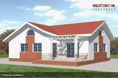 case cu doua dormitoare Two bedroom single story house plans 8 Family Of 4, Story House, Design Case, Two Bedroom, Bedroom Apartment, Home Fashion, Home Projects, House Plans, Cabin