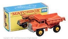 Matchbox Regular Wheels No.28d Mack Dump Truck.