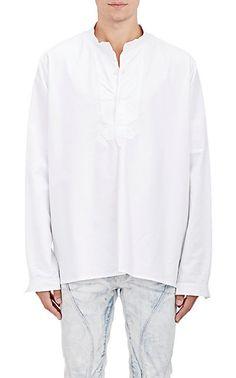 Faith Connexion Bibbed Oxford Cloth Shirt - Casual - Barneys.com