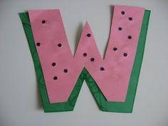 Letter W Watermelon Craft