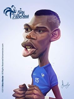 Paul Pogba (by Brice Mercier) Paul Pogba, Funny Caricatures, Celebrity Caricatures, Pogba Wallpapers, Realistic Cartoons, Cinema Tv, Black And White Cartoon, Funny Phone Wallpaper, Boxing Quotes