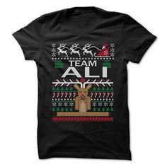 Team ALI Chistmas - Chistmas Team Shirt ! - #cat hoodie #country sweatshirt. LIMITED AVAILABILITY => https://www.sunfrog.com/LifeStyle/Team-ALI-Chistmas--Chistmas-Team-Shirt-.html?68278