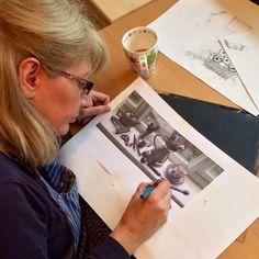 Denise tackles a still life!
