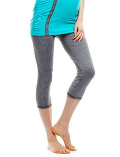 Destination Maternity Jessica Simpson Secret Fit Belly(r) Jersey Knit Cropped Maternity Yoga Leggings