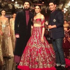 Famous Fawad khan And Bollywood Beauty Queen Deepika Padukone As Showstoppers Style