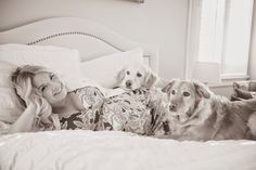 Attention to Darling: Maternity Photo Shoot, dogs, relaxed, bedroom, black and white, lilly pulitzer, outfit, style, indoors