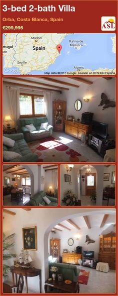 3-bed 2-bath Villa in Orba, Costa Blanca, Spain ►€299,995 #PropertyForSaleInSpain