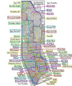 Manhattan neighborhoods. nice.