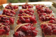 Cranberry Shortbread: This delicious Holiday Recipe was adapted from Bon Appetit Magazine for use in a wood fired oven. It adds a splash of holiday color to any table!