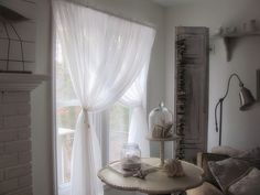 pretty way to hang curtains