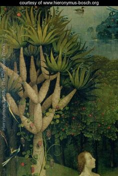 The Tree of the Knowledge of Good and Evil, detail from the right panel of The Garden of Earthly Delights, c.1500 - Hieronymous Bosch - www.hieronymus-bosch.org