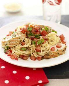 Bruschetta Pasta Recipe ...w spaghetti squash instead