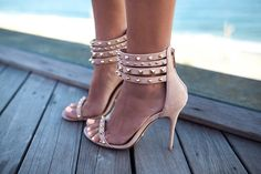 studded ankle strap