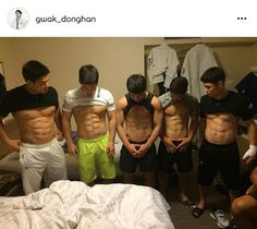 South Korean judo team flaunt their hard work for the Olympics with an ab-tastic picture