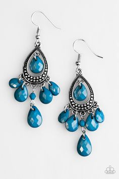 Enjoy the Wild Things Blue Earrings