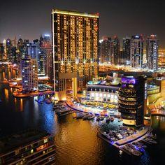 Dubai Marina at night, my own capture.
