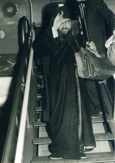 St. John often traveled by airplane (photo on left), given that his flock was spread throughout the world (in 1951, Vladyka was transferred to Brussels to serve as Archbishop of Brussels and Western Europe, while in 1962 he was appointed as head of the Western American Diocese).