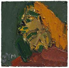 Frank Auerbach (British, b. 1931), Head of J.Y.M., 1970. Oil on board, 14 x 14 in.