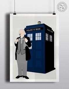 #minimalist #poster #posteritty #fanart #whovian #drwho #doctorwhol #hartnell #tardis