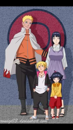 as promised, the other family! The Uchiha Family --> HERE Lines & Color by Naruto, Hinata, Boruto & Himawar. The Uzumaki Family Anime Naruto, Naruto Team 7, Naruto Comic, Wallpaper Naruto Shippuden, Naruto Uzumaki Shippuden, Naruto Cute, Naruto Funny, Hinata Hyuga, Uzumaki Family