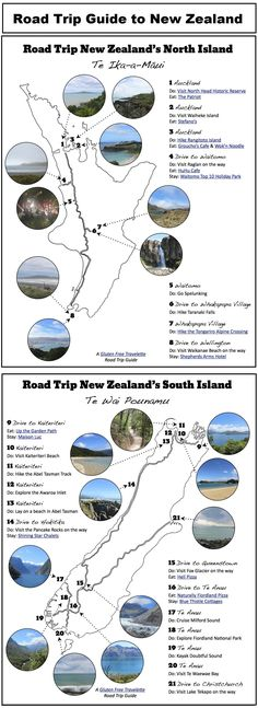 Road Trip Guide, The North Island & The South Island, New Zealand Road Trip New Zealand, New Zealand Adventure, New Zealand North, Visit New Zealand, New Zealand South Island, New Zealand Travel, Nz South Island, New Zealand Tours, New Zealand Holidays