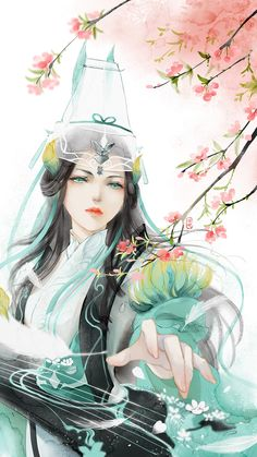 Chinese Artwork, Chinese Painting, Art Pictures, Art Images, Creative Pictures, Kawaii, Portraits, Ancient Art, Geisha