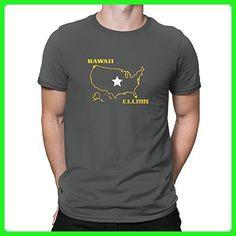 Teeburon Hawaii USA STATE T-Shirt - Cities countries flags shirts (*Amazon Partner-Link)