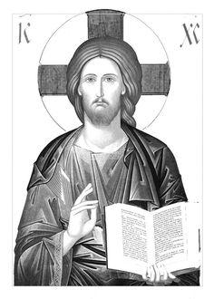 Religious Pictures, Religious Icons, Religious Art, Jesus Drawings, Jesus Christus, Jesus Face, Byzantine Icons, Orthodox Icons, Bible Art