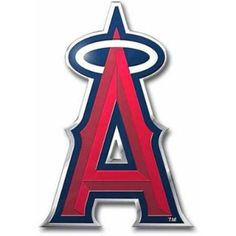 MLB Los Angeles Angels Die-Cut Color Auto Emblem, Silver