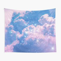 Clouds Aesthetic Glitch • Millions of unique designs by independent artists. Find your thing. Tapestry Bedroom, Tapestry Wall Hanging, Thing 1, Rainbow Aesthetic, Wall Decor, Wall Art, Textile Prints, All Print, Vivid Colors