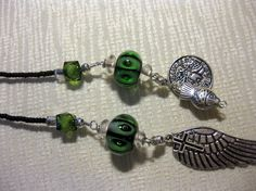 SOJOURN green and black lariat by blingbychristine on Etsy, $15.00