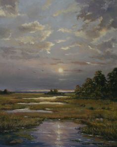 """The NOAPS Signature Artist Best Painting Award in the Best of America 2016 went to """"Moonlit Creek"""" by NOAPS Signature Artist Member Paula Holtzclaw, NC. This great composition takes the eyes of the viewer in a zigzag path of illuminated colors charged with the soft light of the moon. Signature and Master NOAPS Artists will be participating in an exclusive exhibition at the Eisele Art Gallery in Cincinnati, OH. Deadline to enter this exclusive exhibit for Signatures is September 15, 2016."""