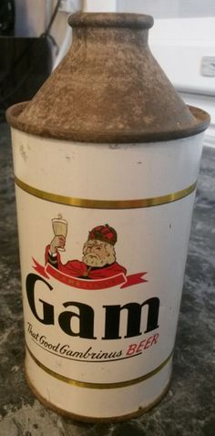 Gam Cone Top Beer Can in Great Condition Cone Top | eBay